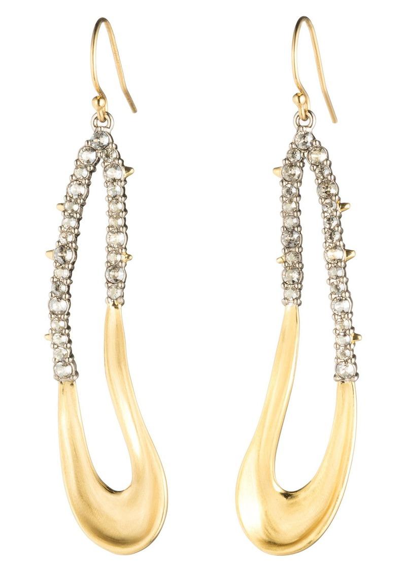 Alexis Bittar Freeform Crystal Encrusted Drop Earrings