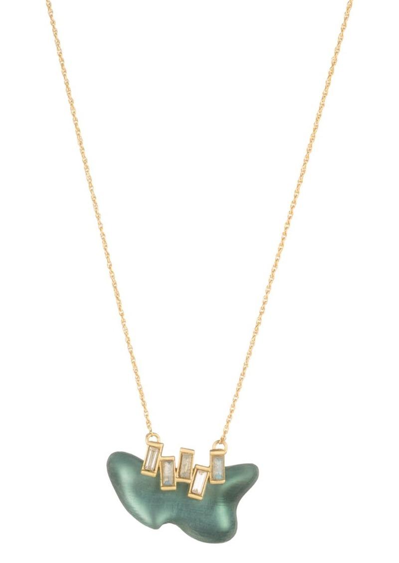 "Alexis Bittar Freeform Pendant Necklace, 16"""