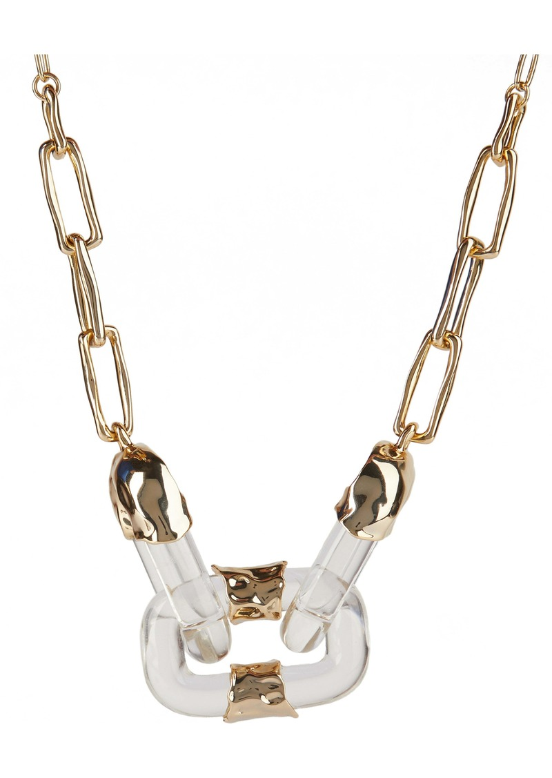 Alexis Bittar Future Antiquity Crumpled Metal Soft Link Necklace