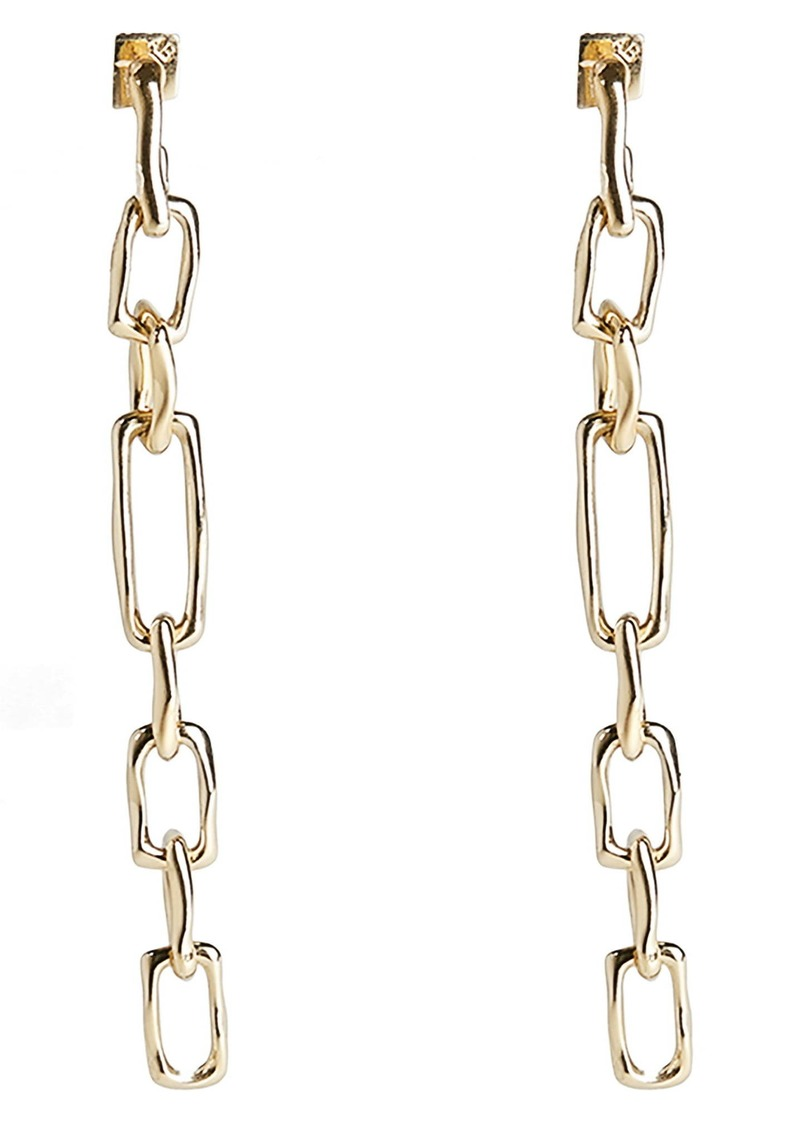 Alexis Bittar Future Antiquity Long Chain Drop Earrings