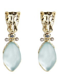Alexis Bittar Future Antiquity Panther Clip-On Drop Earrings