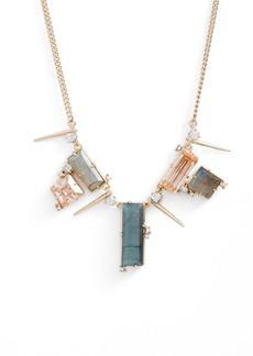 Alexis Bittar Geo Crystal Spike Necklace