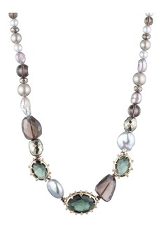 Alexis Bittar Georgian Mixed Stone Collar Necklace
