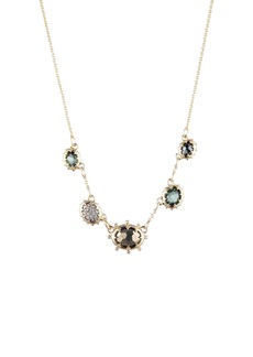 Alexis Bittar Georgian Multi Stone Frontal Necklace