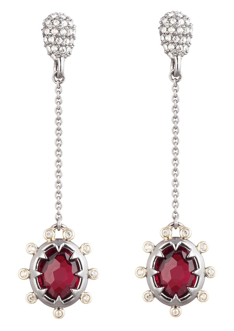 Alexis Bittar Georgian Stone Chain Drop Earrings