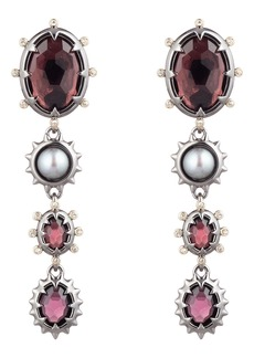 Alexis Bittar Georgian Stone Linear Clip Earrings