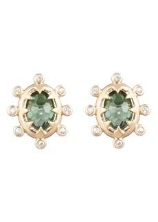 Alexis Bittar Georgian Stone Stud Earrings
