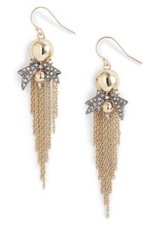 Alexis Bittar Gold Ball Drop Earrings