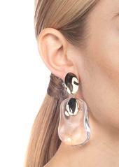 Alexis Bittar Gold Disk Liquid Lucite® Dangle Earrings