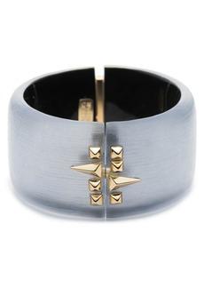 Alexis Bittar Golden Studded Hinge Bracelet