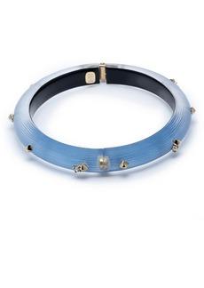 Alexis Bittar Golden Studded Lucite® Hinge Bracelet