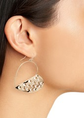 Alexis Bittar Half Grater Heart Wire Earrings