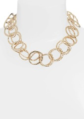 Alexis Bittar Hammered Coil Collar Necklace