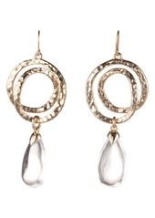 Alexis Bittar Hammered Coil Lucite® Dewdrop Earrings