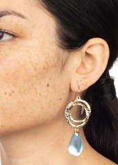 Alexis Bittar Hammered Coil Teardrop Pendant Earrings