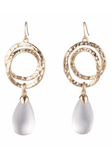 Alexis Bittar Hammered Coil Teardrop Pendant Earrings