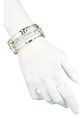 Alexis Bittar Hammered Metal & Multi-Stone Hinge Bracelet