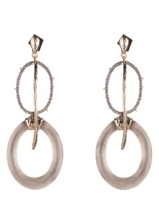 Alexis Bittar Hammered Metal Link Drop Earrings