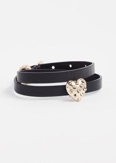 Alexis Bittar Heart Slider Leather Wrap Bracelet