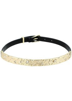 Alexis Bittar Hinged Leather Choker Necklace