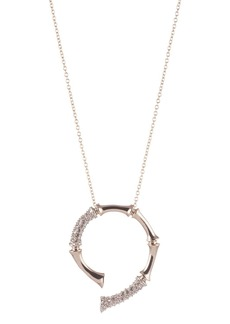 "Alexis Bittar Horseshoe Pendant Necklace, 16"""