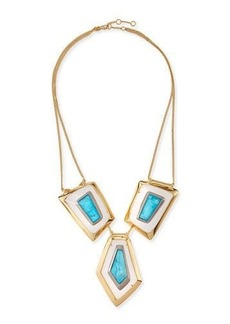 Alexis Bittar Large Floating Turquoise Howlite Kite Necklace