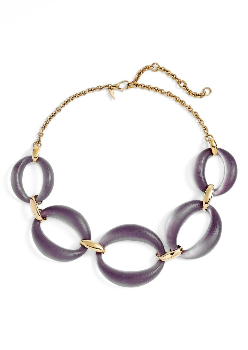 Alexis Bittar Large Lucite® Link Frontal Necklace
