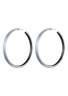 Alexis Bittar Large Skinny Hoop Earrings