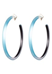 Alexis Bittar Large Skinny Lucite® Hoop Earrings