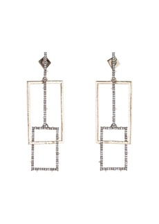 Alexis Bittar Linked Crystal Rectangles Post Earrings