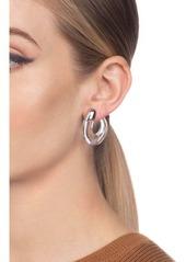 Alexis Bittar Liquid Cap Hoop Earrings