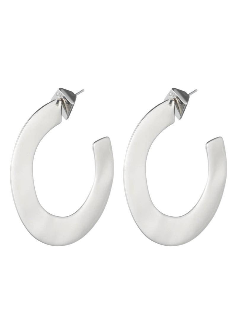 Alexis Bittar Liquid Metal Orbit Hoop Earrings
