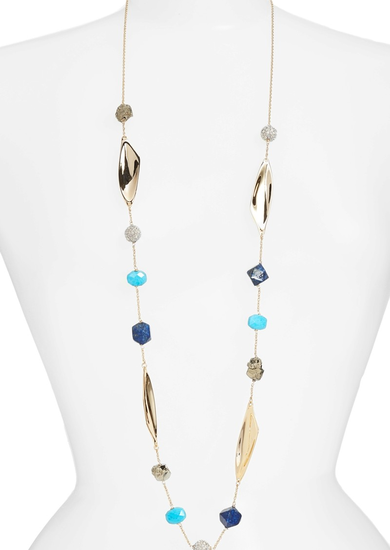 for gold runway shop stone rent the bittar designers alexis ash necklace by
