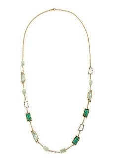 Alexis Bittar Long Fancy-Cut Crystal Station Necklace