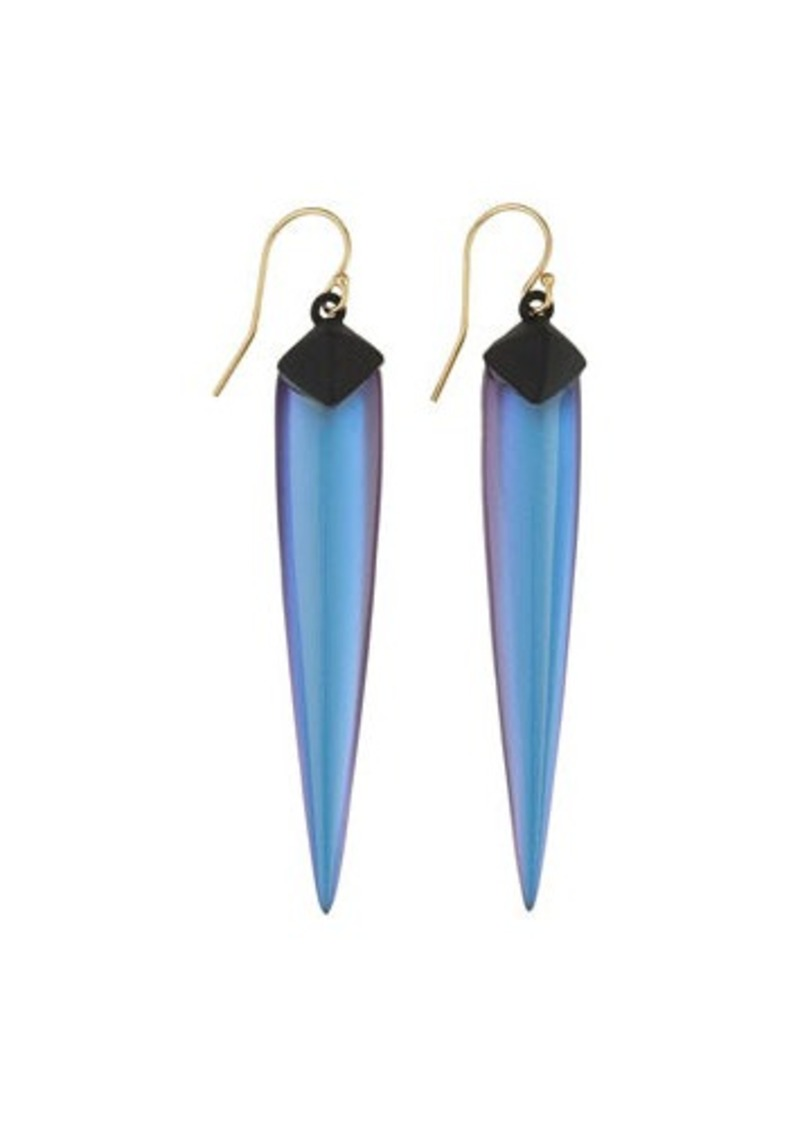 Alexis Bittar Matte Pyramid-Capped Lucite Spear Drop Earrings