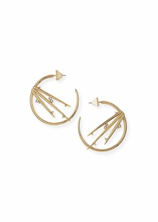 Alexis Bittar Metallic Thorn Hoop Earrings