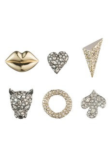 Alexis Bittar Mismatched 3-Pair Stud Earring Set