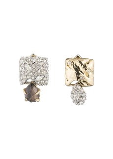 Alexis Bittar Mismatched Crystal Cluster Stud Earrings