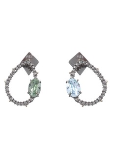 Alexis Bittar Mismatched Crystal Earrings