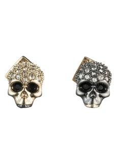 Alexis Bittar Mismatched Skull Stud Earrings