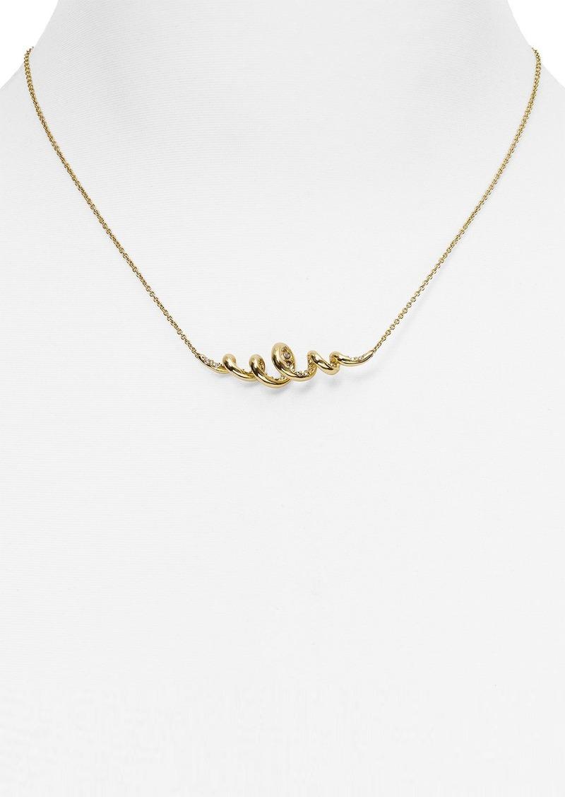 "Alexis Bittar Miss Havisham Crystal-Encrusted Spiral Pendant Necklace, 14"""