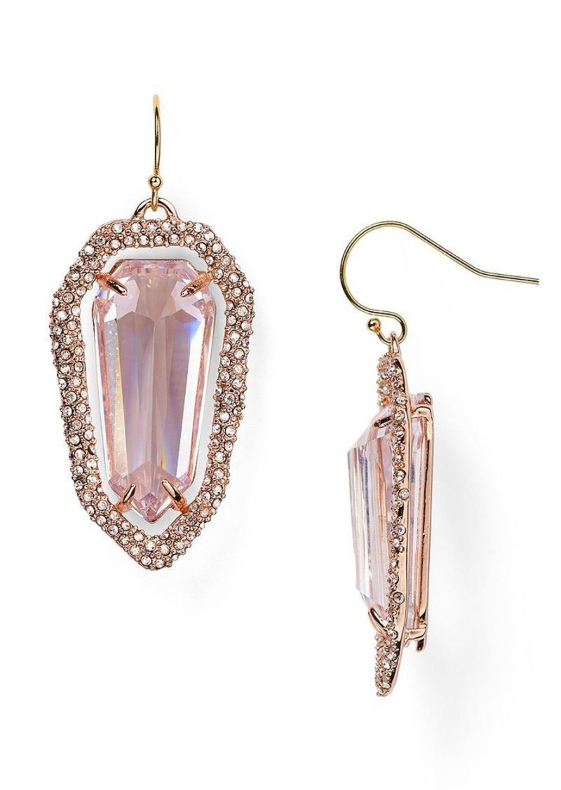 Alexis bittar alexis bittar encrusted shield drop earrings for Jewelry sale online shopping