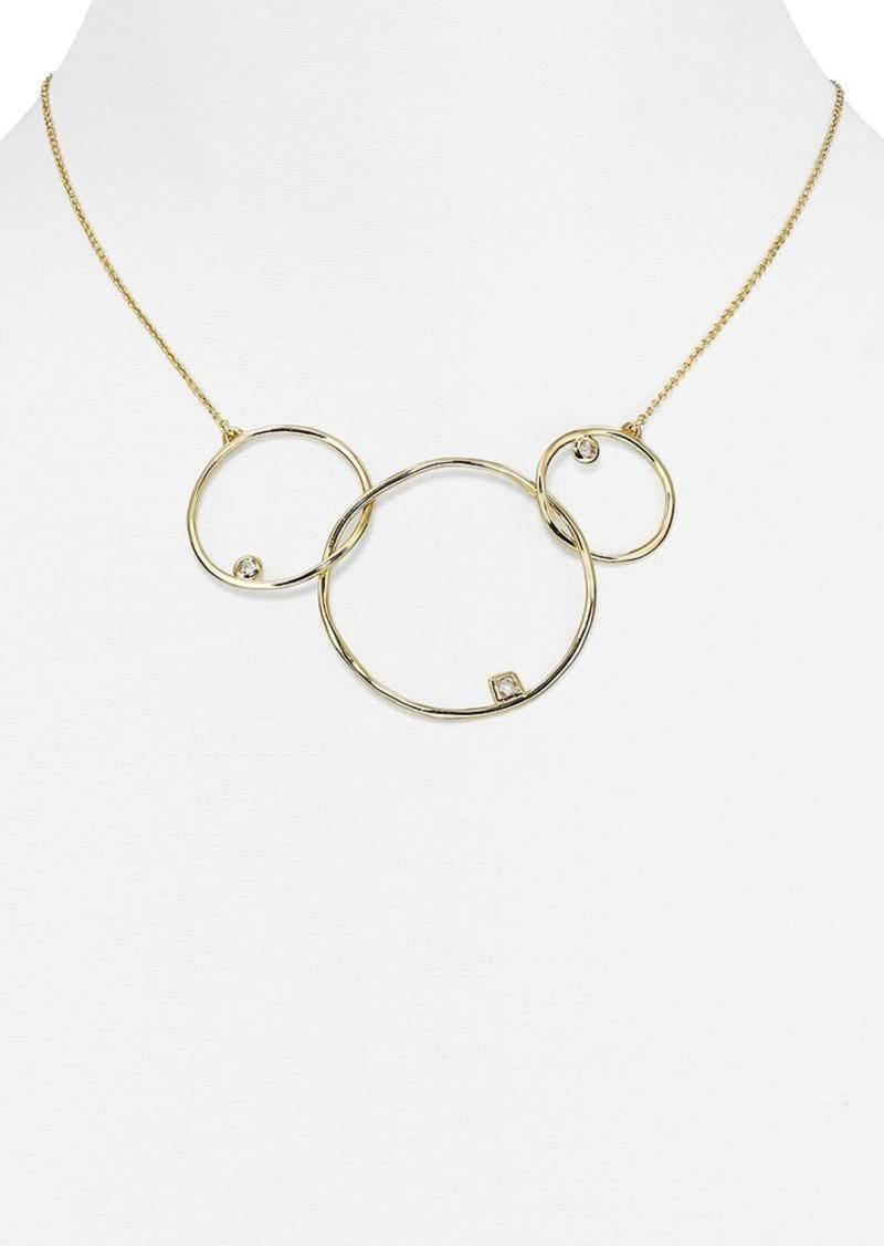 "Alexis Bittar Miss Havisham Kinetic Circle Pendant Necklace, 13"""