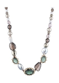 "Alexis Bittar Modern Georgian Beaded Single Strand Necklace, 18"""