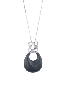 Alexis Bittar Modern Georgian Checkerboard Lucite® Pendant Necklace