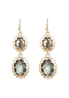 Alexis Bittar Modern Georgian Double Stone Drop Earrings
