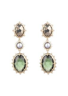 Alexis Bittar Modern Georgian Multi Stone Drop Clip-On Earrings