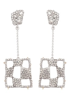 Alexis Bittar Modern Georgian Pavé Checkerboard Drop Earrings