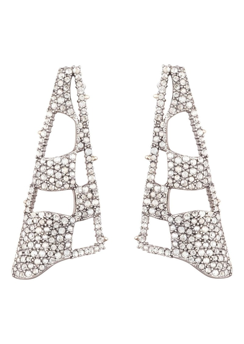 Alexis Bittar Modern Georgian Pavé Checkerboard Fan Earrings