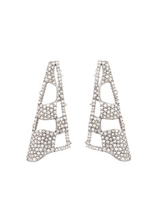 Alexis Bittar Modern Georgian Pav� Checkerboard Fan Earrings